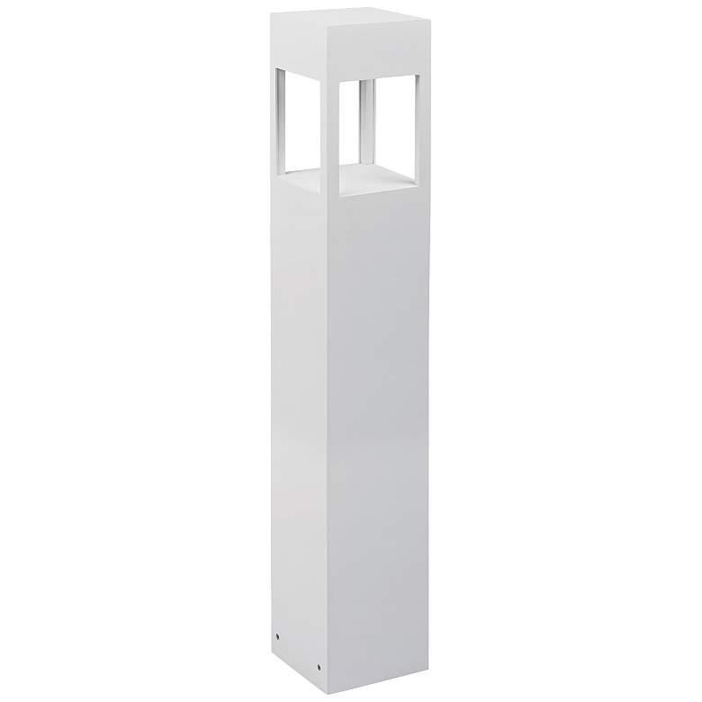 "Sonoma 36"" High White Square LED Landscape Bollard Light"