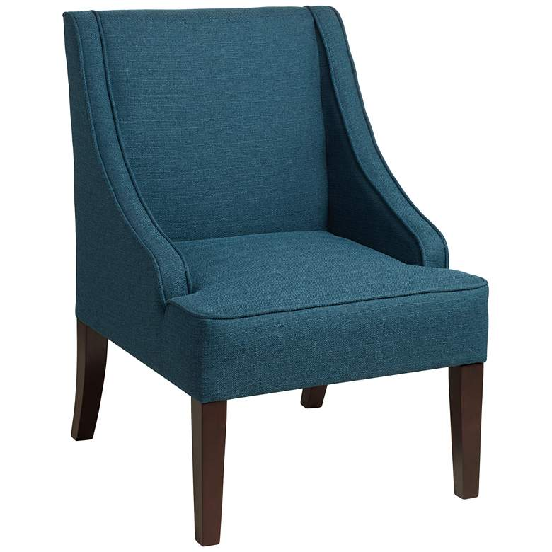 Dixon Blue Fabric Swoop Arm Chair