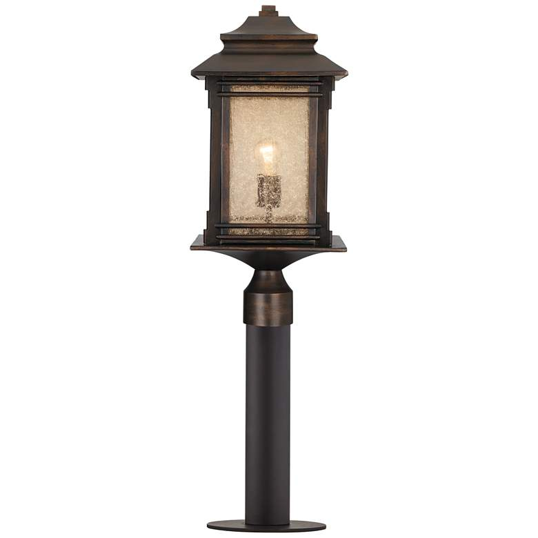 """Hickory Point 33 1/2""""H Bronze Path Light w/ Low Voltage Bulb"""
