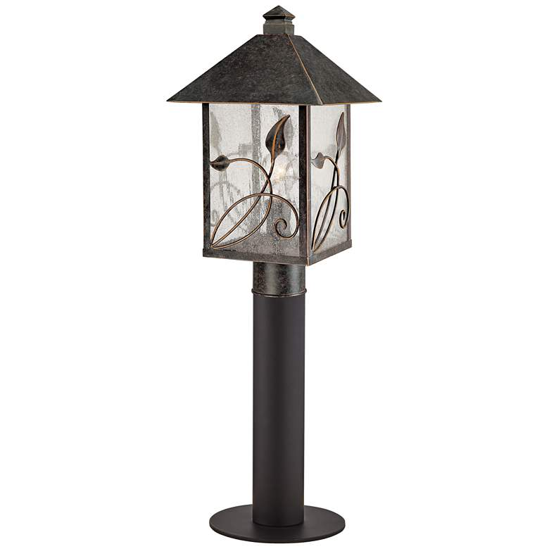 """French Garden 29"""" High Bronze Path Light w/ Low Voltage Bulb"""