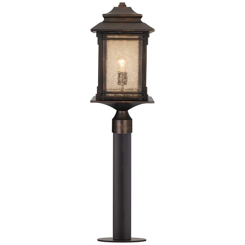 """Hickory Point 37 1/2""""H Bronze Path Light w/ Low Voltage Bulb"""