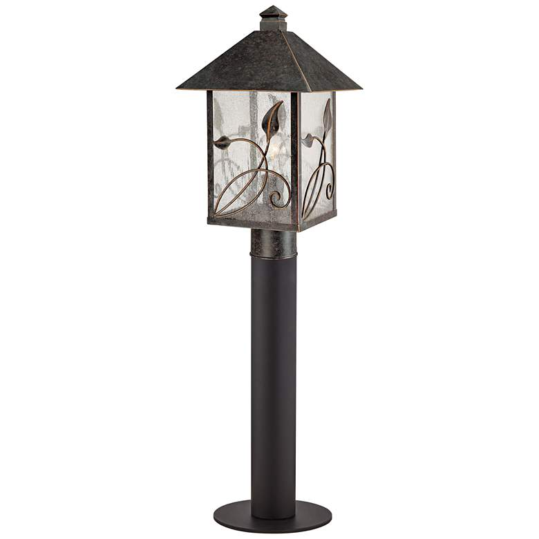 "French Garden 33"" Bronze Path Light with Low Voltage Bulb"