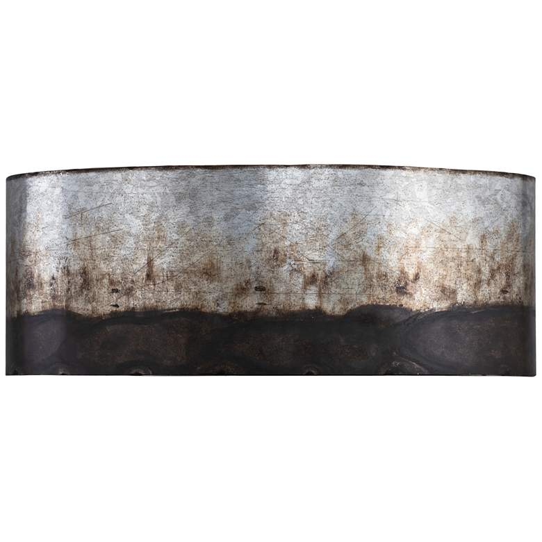 "Varaluz Cannery 6"" High Ombre Galvanized 2-Light Wall Sconce"