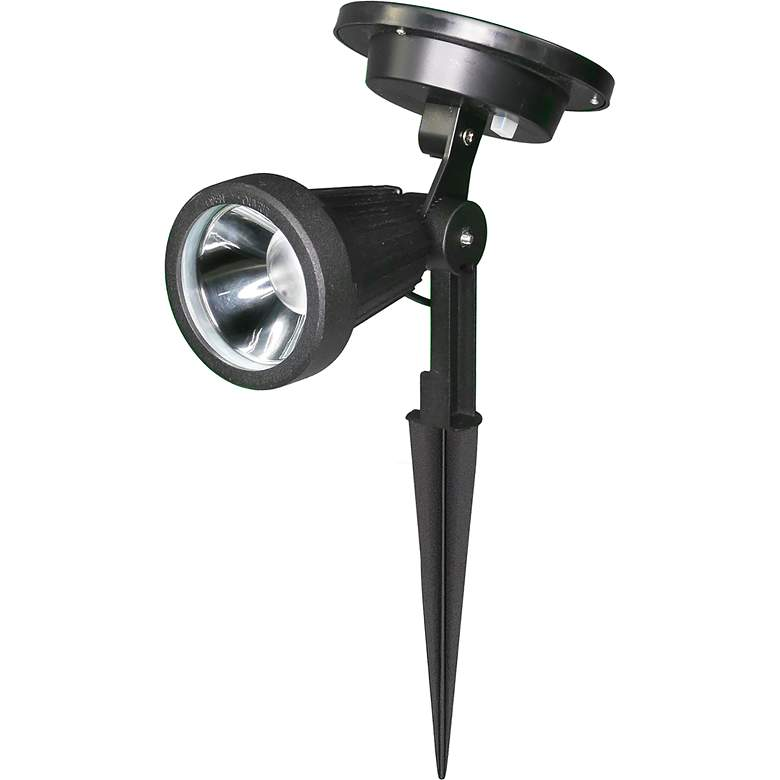 "Bellagio 10 3/4""H Black Solar LED Landscape Spotlight"