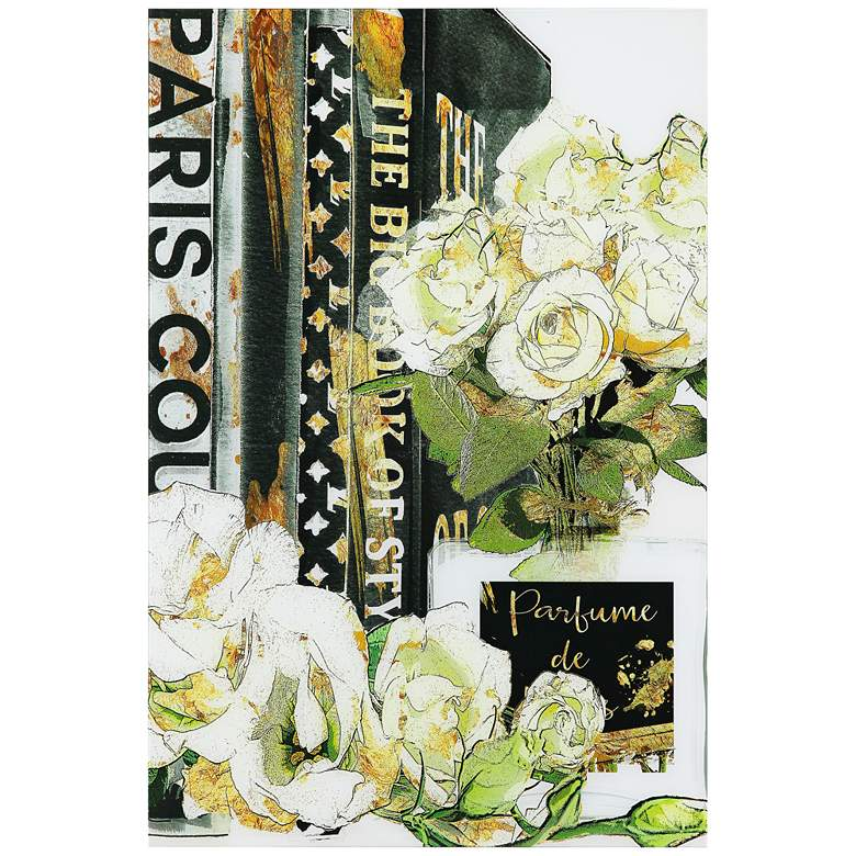 """Big Book of Style 48"""" High Reverse Printed Glass Wall Art"""