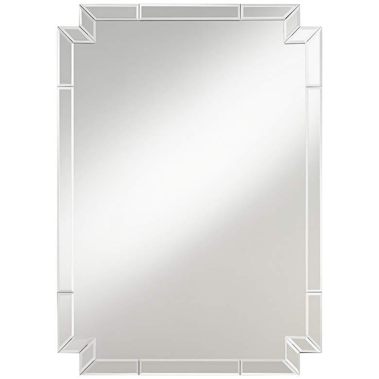 "Possini Euro Redi 26"" x 36"" Cut Corner Edge Wall Mirror"
