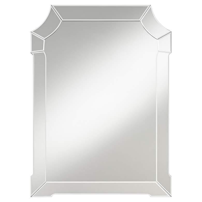 """Possini Euro Aki 26"""" x 35 1/2"""" Cut Corner Wall Mirror"""