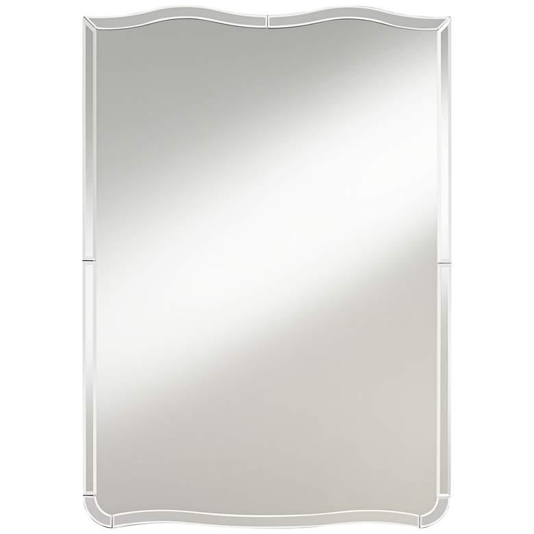 "Possini Euro Molli 27"" x 38"" Waved Edge Wall Mirror"