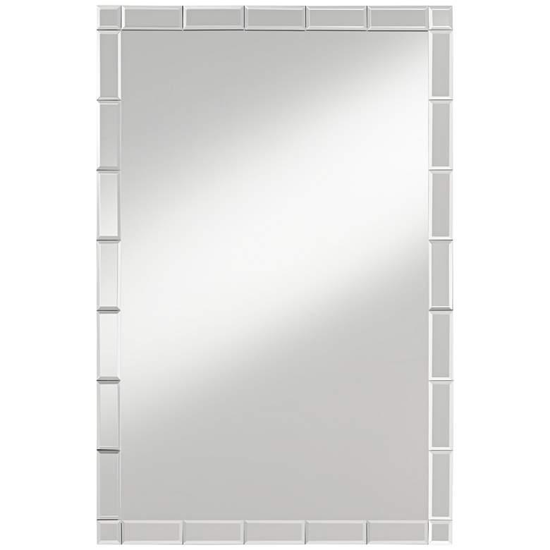 "Possini Euro Cari 23 1/2"" x 35 1/2"" Tile Edge Mirror"
