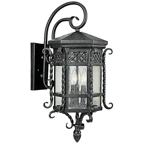 "Maxim Scottsdale 23 1/2"" High Black Outdoor Wall Light"
