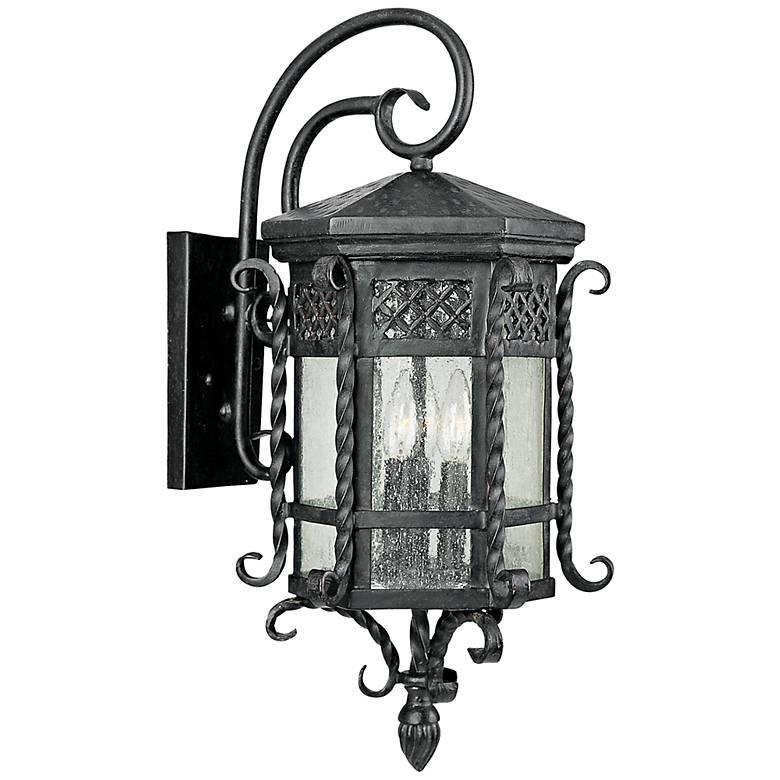 "Maxim Scottsdale 23 1/2"" High Black Outdoor Wall Light"