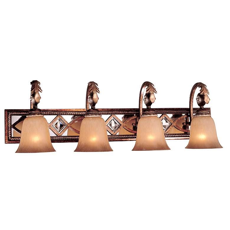 """Aston Court 34 1/4"""" Wide Bronze 4-Light Bath Light"""