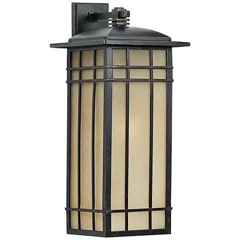 """Quoizel Hillcrest 25 1/4"""" High Bronze Outdoor Wall Light"""