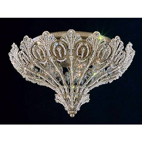 Schonbek Rivendell Swarovski Silver Ceiling Light Fixture