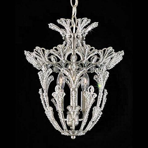 Schonbek Rivendell Swarovski Silver Pendant Chandelier
