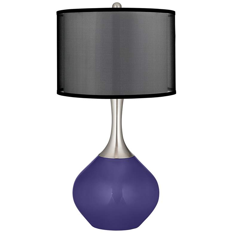 Valiant Violet Spencer Table Lamp with Organza Black Shade