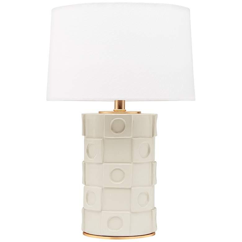 Mitzi Athena Creamy White Ceramic Accent Table Lamp