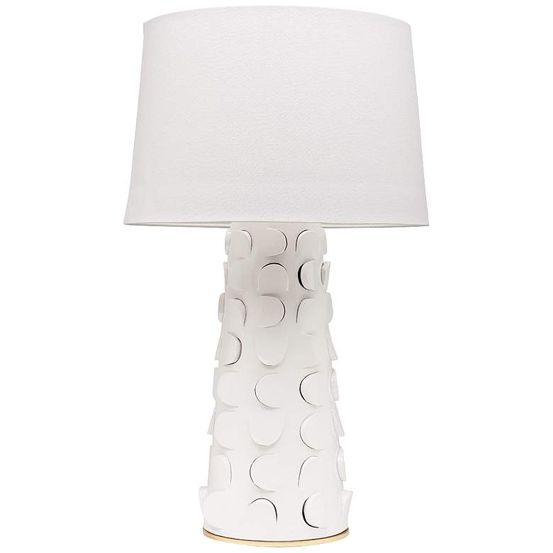Mitzi Naomi White Lustro Ceramic Table Lamp