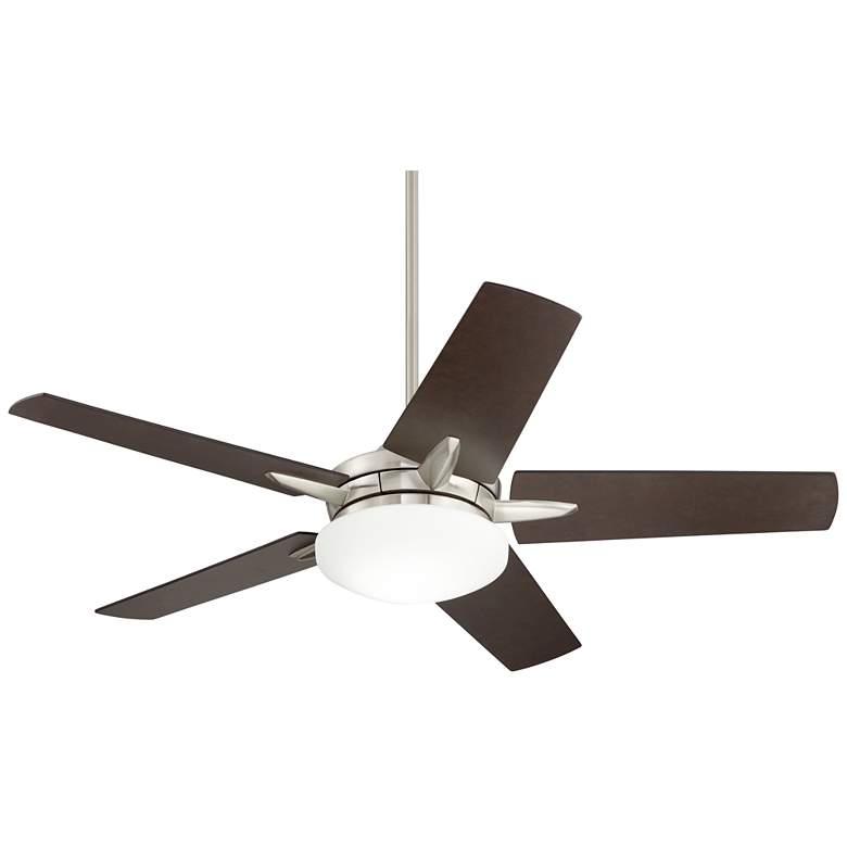 """56"""" Casa Endeavor® Brushed Nickel Bronze LED Ceiling Fan"""