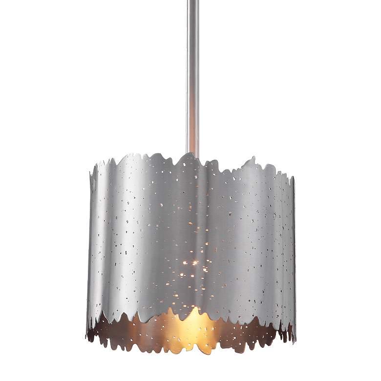 "Baradla 9"" Wide Satin Brushed Nickel Mini Pendant Light"