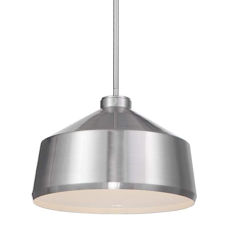 "Holgate 14"" Wide Brushed Nickel Dome Metal Pendant Light"