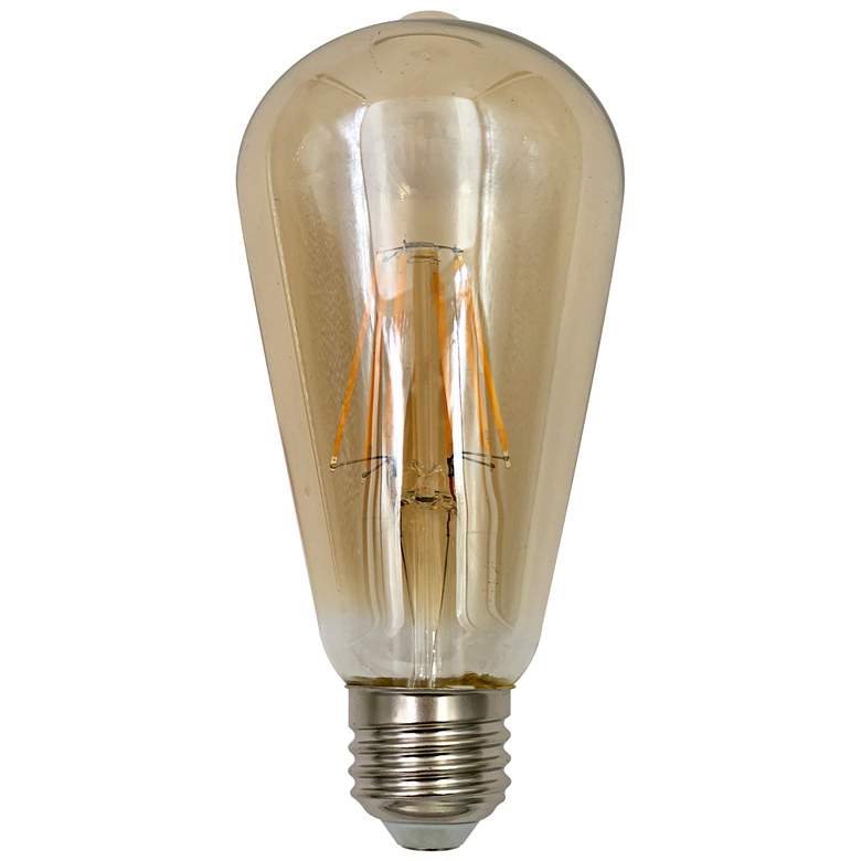 100W Equivalent Amber 15W LED Dimmable Edison ST21
