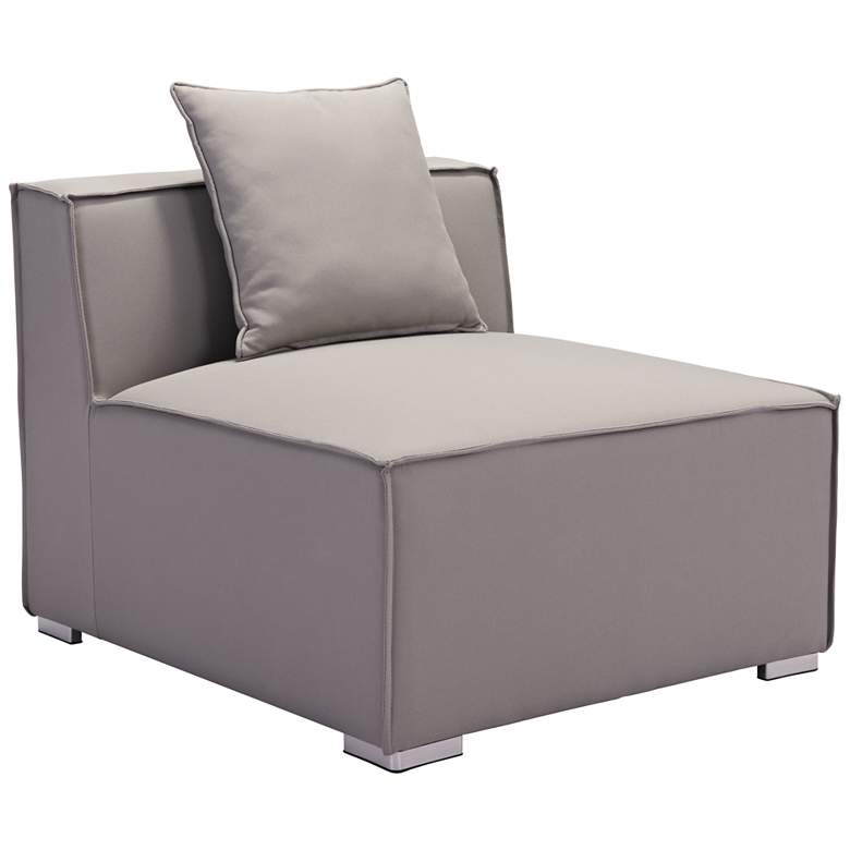 Zuo Fiji Gray Sunproof Fabric Outdoor Middle Chair
