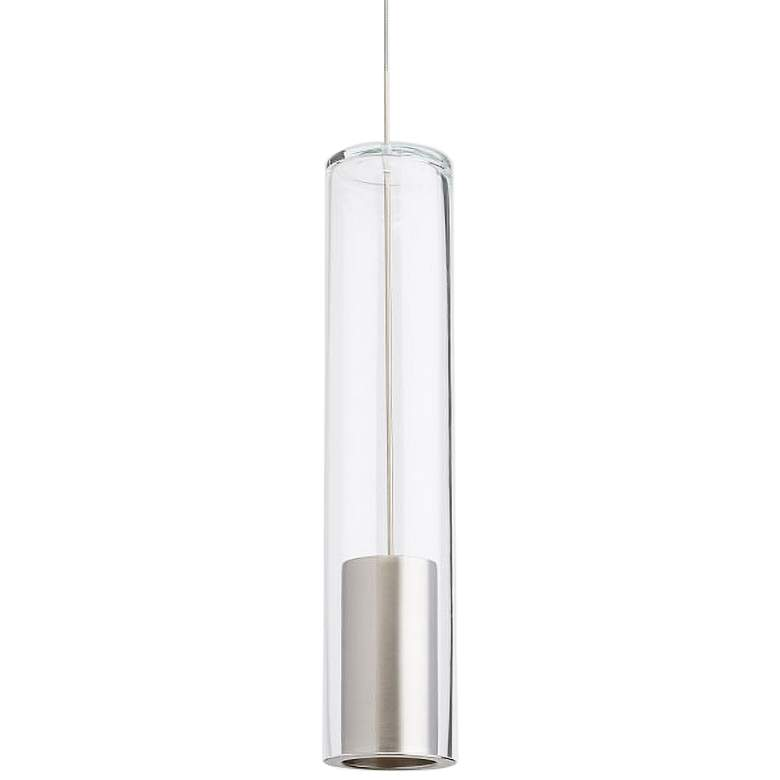 "Captra 3"" Wide Clear Glass Nickel Monorail Mini Pendant"
