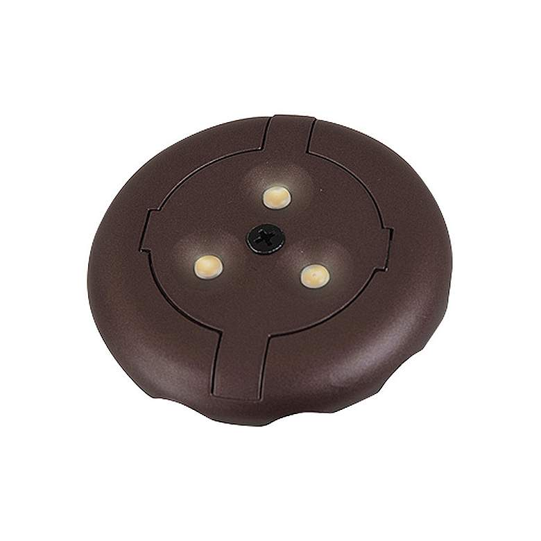 "Plated Bronze 3""W Round 2700K LED Under Cabinet Disk Light"