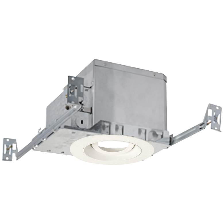 "3"" White 750 Lumen LED Adjustable Round Gimbal Recessed Kit"