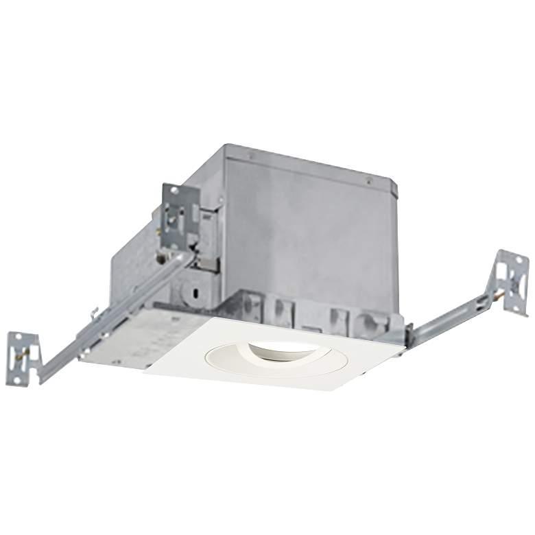 "3"" White 750 Lumen LED Adjustable Square Gimbal Recessed Kit"