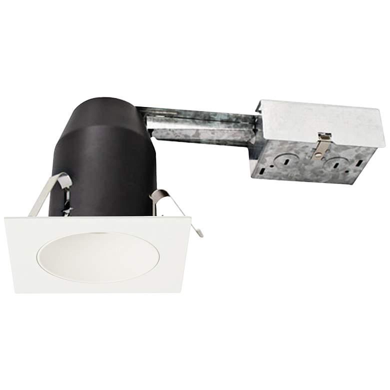 "3"" White 750 Lumen LED Remodel Square Reflector Recessed Kit"