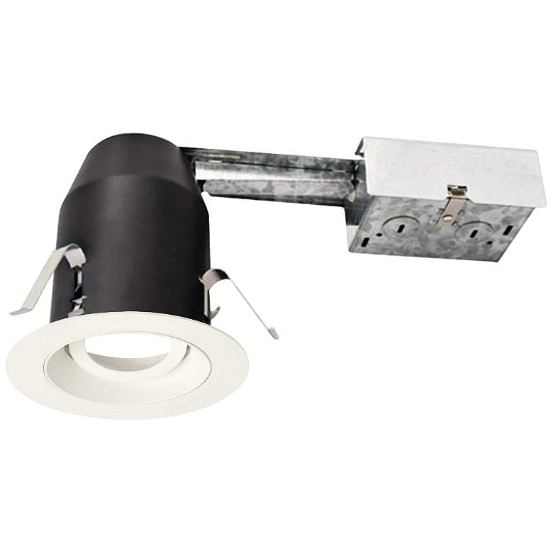 "3"" White 950 Lumen LED Remodel Round Gimbal Recessed Kit"