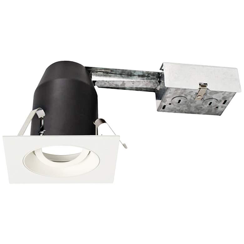 "3"" White 950 Lumen LED Remodel Square Gimbal Recessed Kit"