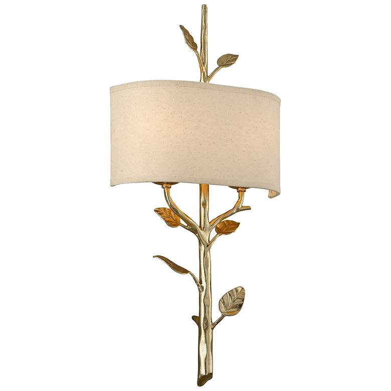 """Almont 26"""" High Gold Leaf Nature Inspired Wall Sconce"""