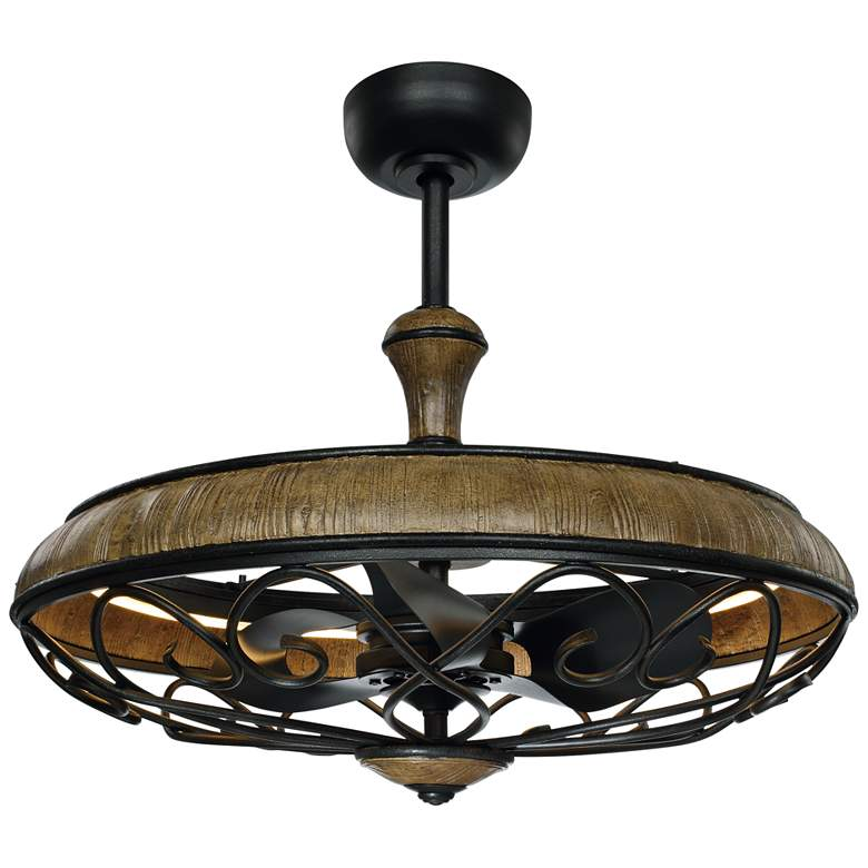 "30"" Maxim Tuscany Driftwood Ore LED Fandelier Ceiling Fan"
