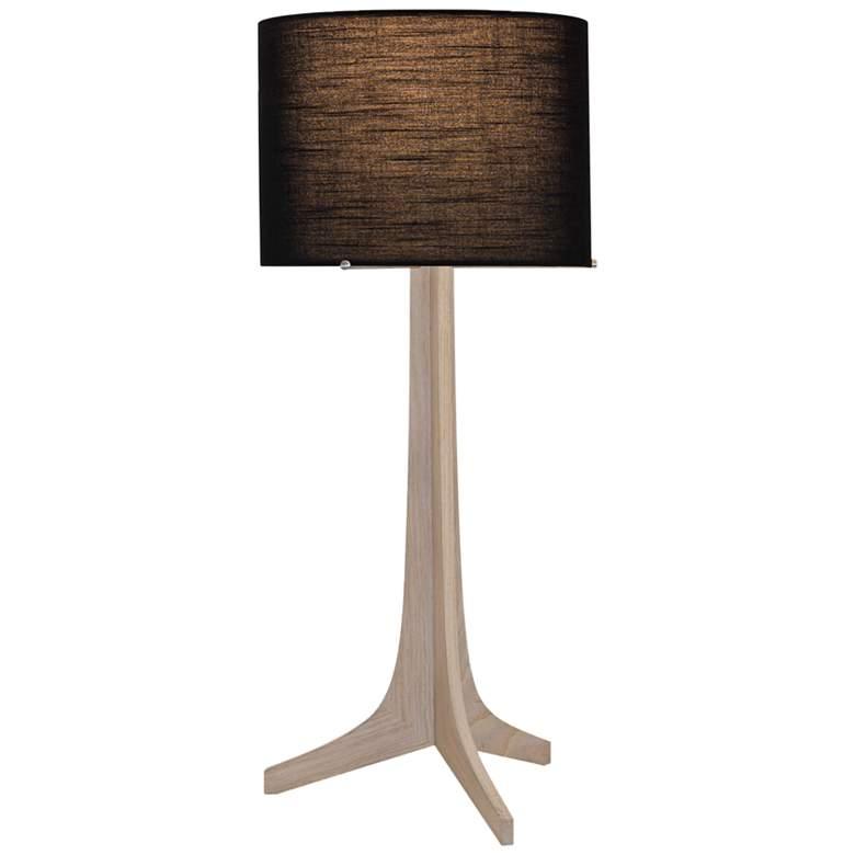 Nauta White Oak and Black Shade LED Table Lamp