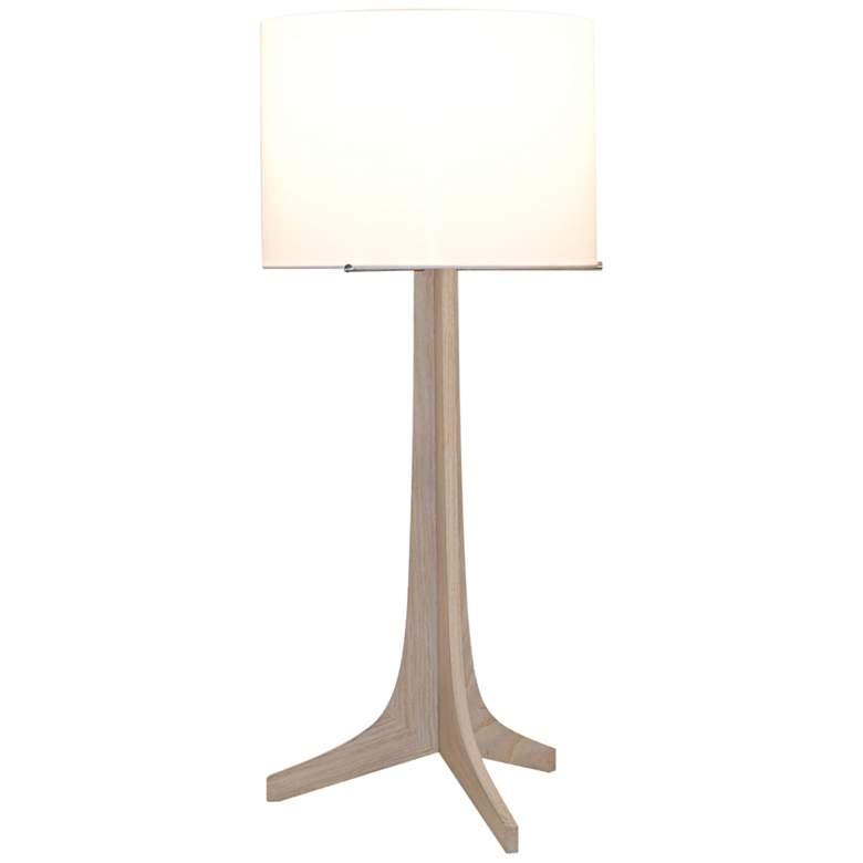 Nauta White Oak and White Shade LED Table Lamp