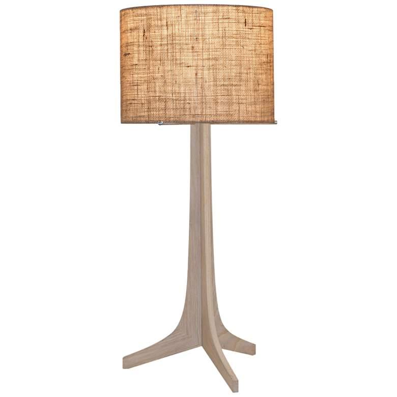 Nauta White Oak and Burlap Shade LED Table Lamp