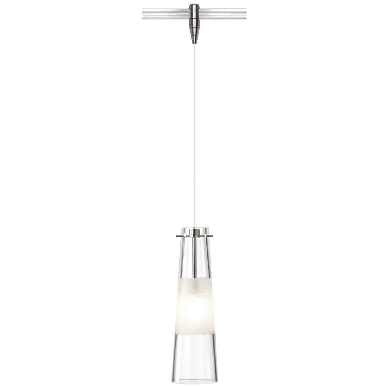 "Bonn 3 3/4""W Clear Glass Nickel LED Monorail Mini Pendant"