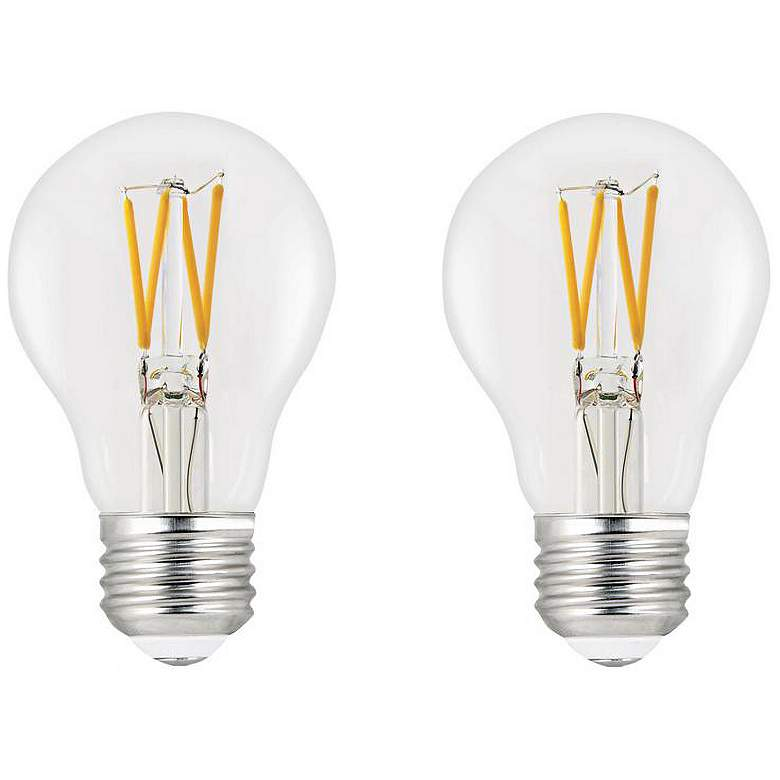 60W Equivalent Clear 9W LED Dimmable T20-Comp 2 Pack