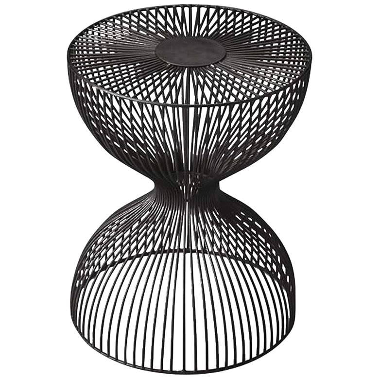 """Butler Nicholas 14""""W Open Hourglass Iron Cage Bunching"""