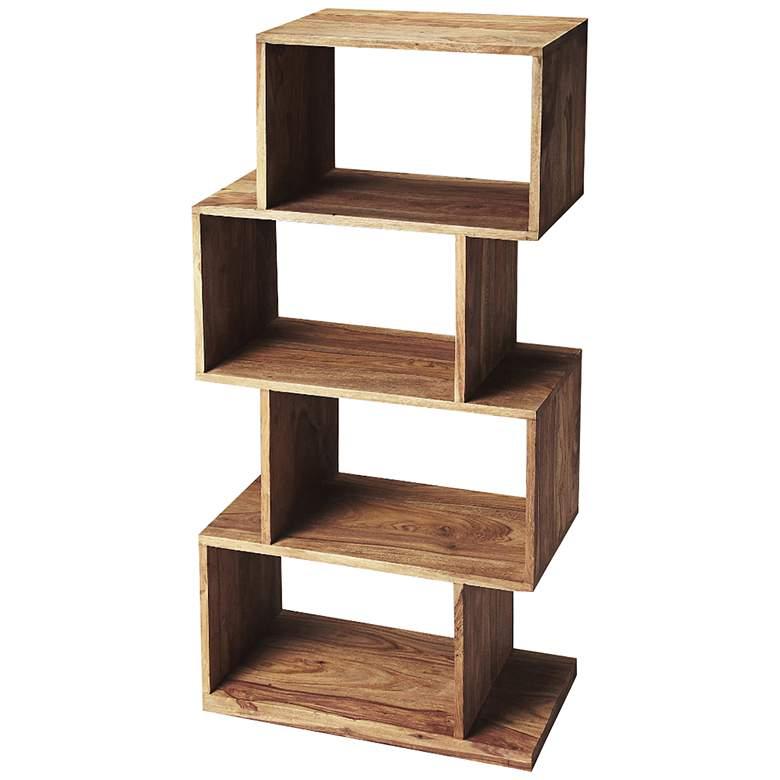 Butler Stockholm Light Brown Wood 4-Shelf Bookcase Etagere