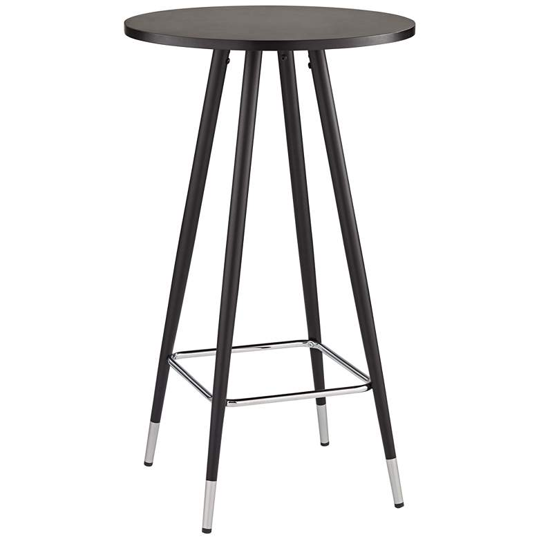 "Elba 40 1/2"" High Black and Chrome Pub Table"