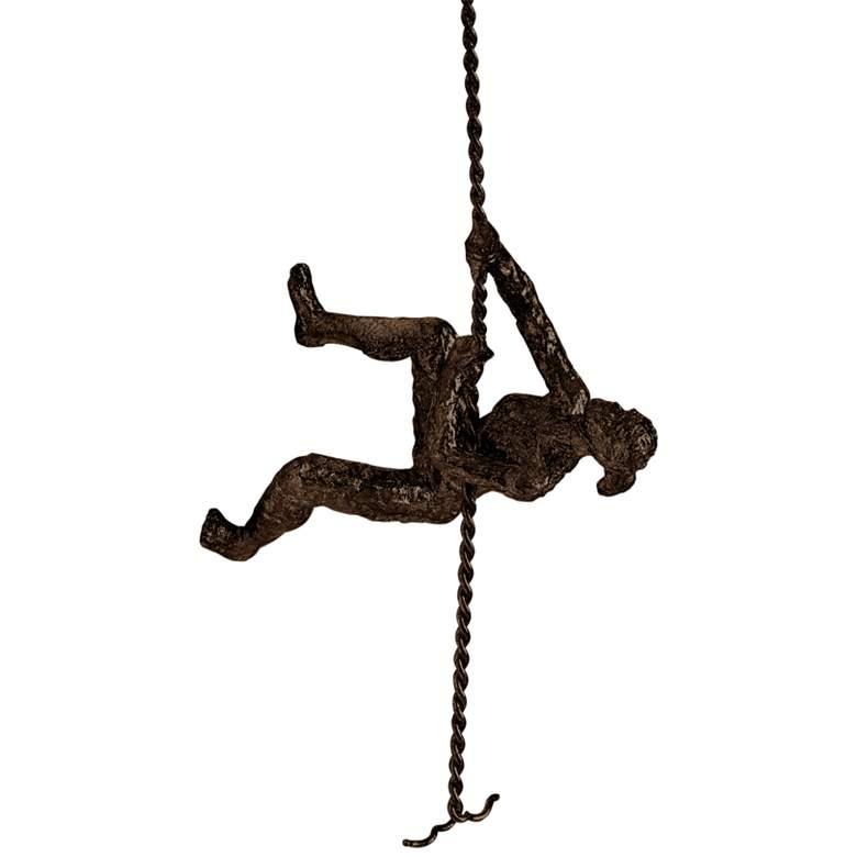"""Climbing Woman 42"""" High Bronze Metal Wall Sculpture"""