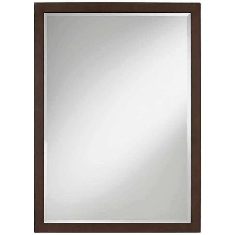 "Possini Euro Metzeo 26"" x 36"" Bronze Rectangular Wall Mirror"