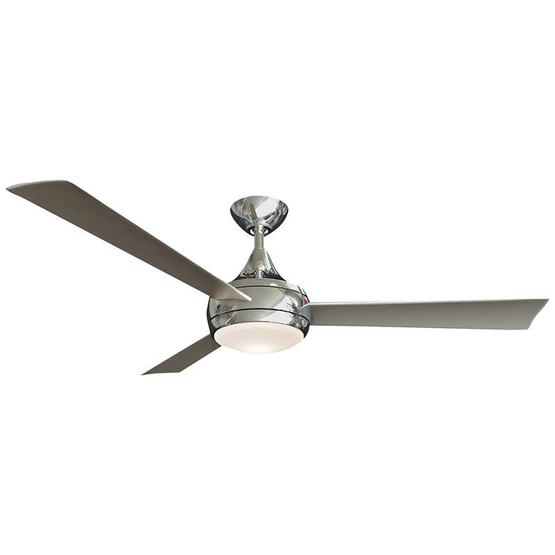 """52"""" Matthews Donaire Brushed Stainless LED Wet Ceiling Fan"""