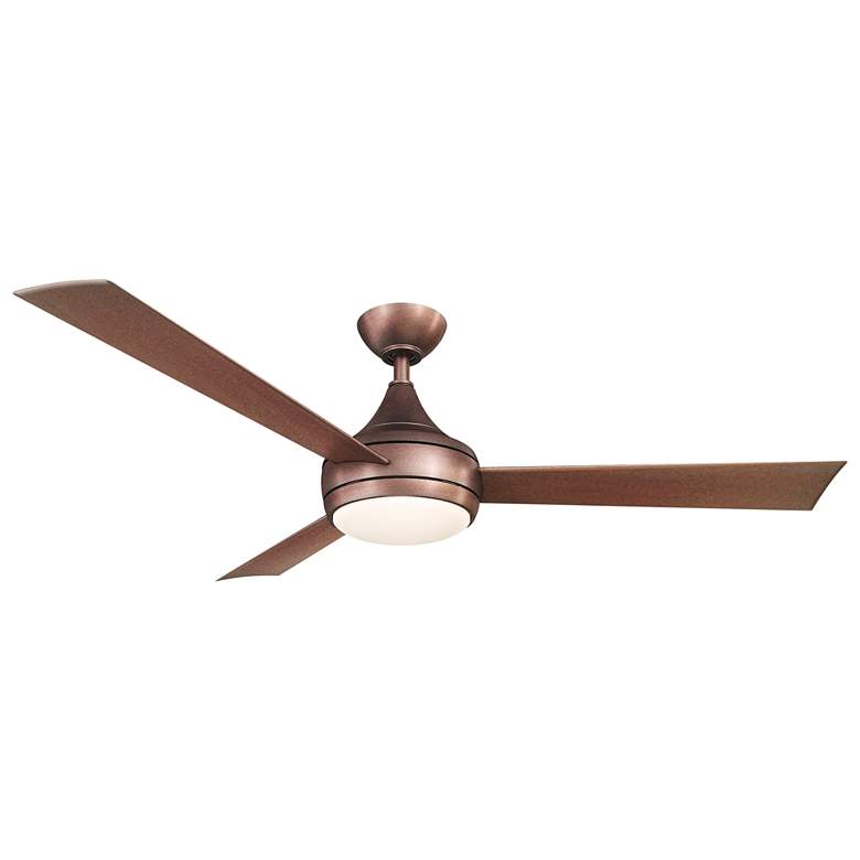 "52"" Matthews Donaire Brushed Bronze Wet LED Ceiling Fan"