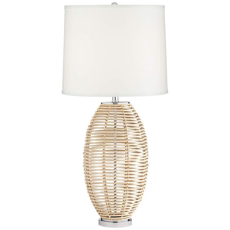 Knoll Natural Rattan Basket Table Lamp