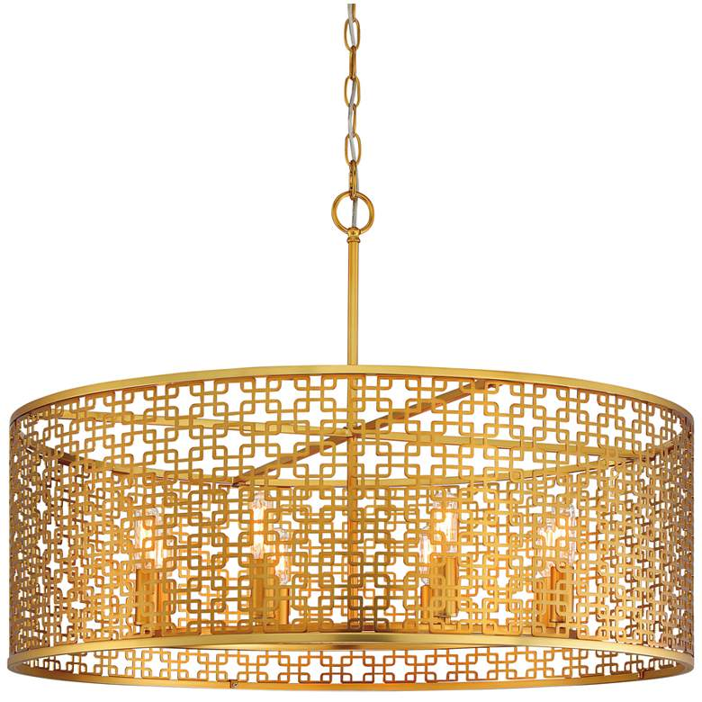 """Metropolitan Blairmoor 30"""" Wide Honey Gold Pendant Light"""